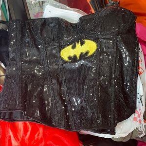 Batgirl Sequin Corset DC Comics  Adult Costume